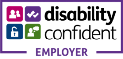 Disability Confident Employer, replaces the two ticks disability symbol
